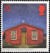 UNITED KINGDOM - CIRCA 1997: A stamp printed in Great Britain shows Post Offices, Haroldswick, Shetland Islands, Scotland, circa 1997 — Stock Photo