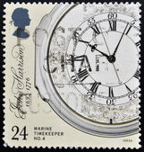 UNITED KINGDOM - CIRCA 1993: a stamp printed in the Great Britain shows Marine Chronometer by John Harrison, inventor, circa 1993 — Stock Photo