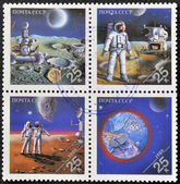 USSR - CIRCA 1989: Stamps printed in Russia dedicated to exploration in the space, circa 1981 — Stock Photo