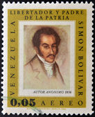 VENEZUELA - CIRCA 1980: A stamp printed in Venezuela shows image of the Simon Bolivar, circa 1980 — Foto de Stock