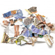 Scraps of women&amp;#039;s fashion magazines - Foto Stock