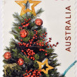 A stamp printed in australia shows christmas tree — Stock Photo
