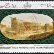 Stock Photo: Stamp printed in Cubdedicated to works from MetropolitMuseum of Havana, shows Coliseum, Italitile, XIX century