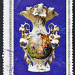 Stamp printed in Cuba dedicated to works from the Metropolitan Museum of Havana, shows Paris porcelain, XIX century — Stock Photo