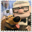 Stamp printed in USA shows an image of Up movie - Foto Stock