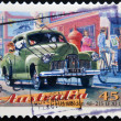 A Stamp printed in Australia dedicated to classic cars, shows the GMH Holden 48-215 (FX) — Stock Photo