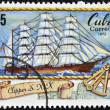 A stamp printed in Cuba shows Clipper, S. XIX — Stock Photo