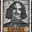 Stock Photo: Stamp printed in Spain shows Self portrait by Diego Velazquez