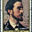 A stamp printed in Spain shows Rosales by Jose de Madrazo — Stock Photo