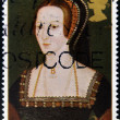Stock Photo: Stamp printed in Great Britain shows Anne Boleyn, wife of king Henry VIII