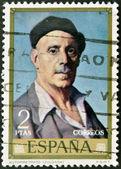 Stamp printed in Spain shows self-portrait of Ignacio Zuloaga — Stock Photo