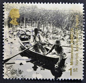 A stamp printed in Great Britain shows Norfolk and Norwich Project — Стоковое фото