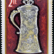 Stockfoto: HUNGARY - CIRC1970: stamps printed in Hungary showing ornate silver jug of 1623, circ1970