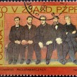 POLAND - CIRCA 1968: stamp printed in Poland, shows Party members by F. Kowarski, circa 1968. — Stock Photo #16234049