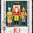 Stock Photo: DEMOCRATIC REPUBLIC OF GERMANY - CIRC1967: stamp printed in Germany dedicated to Folk art from Erzgebirge mountains, shows Nutcracker, circ1967