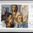 "GERMANY - CIRCA 2004: A stamp printed in Germany shows ""the secret"" by Felix Nussbaum, circa 2004 - ストック写真"