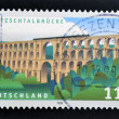 GERMANY- CIRCA 1999: stamp printed in Germany shows Goltzsch Valley Bridge, circa 1999. - ストック写真