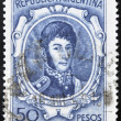 ARGENTINA - CIRCA 1955: a stamp printed in Argentina shows Jose de San Martin, General, circa 1955 - ストック写真