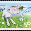 AUSTRALIA - CIRCA 2005: stamp printed in Australia shows Lambs and insects, circa 2005 — Stock Photo