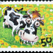 AUSTRALIA - CIRCA 2005: stamp printed in Australia shows Cow and bird, circa 2005 - ストック写真