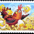 AUSTRALIA - CIRCA 2006: A  stamp printed in Australia shows chicken with just hatched from the eggs of chickens, circa 2006 - ストック写真