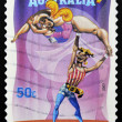 AUSTRALIA - CIRCA 2007: A stamp printed in Australia dedicated to circus, shows The Banana Lady, circa 2007 — Stock Photo
