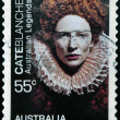 AUSTRALIA - CIRCA 2009: A stamp printed in Australia shows Cate Blanchett as Elizabeth, circa 2009 - ストック写真