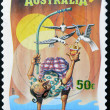 AUSTRALIA - CIRCA 2007: A stamp printed in Australia dedicated to circus, shows The Inside-out Man, circa 2007 — Stock Photo