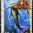 AUSTRALIA - CIRCA 2011: A stamp printed in Australia shows mermaid, circa 2011 - Stock Photo