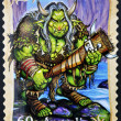 AUSTRALIA - CIRCA 2011: A stamp printed in Australia shows Troll, circa 2011 - ストック写真
