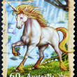 Royalty-Free Stock Photo: AUSTRALIA - CIRCA 2011: A stamp printed in australia shows unicorn,circa 2011