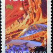 AUSTRALIA - CIRCA 2000: A stamp printed in Australia shows Terrain, circa 2000 - ストック写真