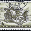 CZECHOSLOVAKIA - CIRCA 1958: A stamp printed in Czechoslovakia, shows Prasident Car of 1897, circa 1958 - ストック写真