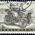 CZECHOSLOVAKIA - CIRCA 1958: A stamp printed in Czechoslovakia, shows Prasident Car of 1897, circa 1958 — Stock Photo