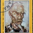 CUBA - CIRCA 1972: A stamp printed in Cuba shows portrait of Don Quijote De La Mancha, circa 1972. - ストック写真