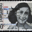 HOLLAND - CIRCA 1980: A stamp printed in The Netherlands shows image of Anne Frank, circa 1980 - ストック写真