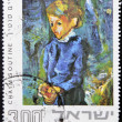 ISRAEL - CIRCA 1974: A stamp printed in Israel dedicated to the Israel Museum of Jerusalem, shows girl in blue by Chaim Soutine, circa 1974 - ストック写真