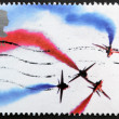 UNITED KINGDOM - CIRCA 2008: A stamp printed in Great Britain dedicated to Air Shows showing The Red Arrows, circa 2008 - ストック写真
