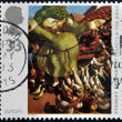 UNITED KINGDOM - CIRCA 1993: A stamp printed in Great Britain shows St Francis and the Birds by Stanley Spencer, circa 1993 - ストック写真
