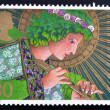 UNITED KINGDOM - CIRCA 1998: A stamp printed in Great Britain shows an angel, circa 1998 - ストック写真