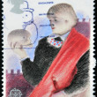 UNITED KINGDOM - CIRCA 1982: A stamp printed in Great Britain dedicated to Hamlet. British Theatre, circa 1982 — Stock Photo