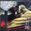 UNITED KINGDOM - CIRCA 1999: A stamp printed in Great Britain shows Industrial Worker and Blast Furnace (James Watt's discovery of steam power), circa 1999 — Stock Photo