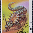 TANZANIA - CIRCA 1994: A stamp printed in Tanzania shows styracosaurus, circa 1994 — Stock Photo