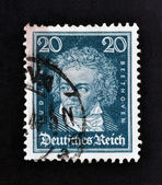 GERMANY - CIRCA 1927: A stamp printed in German Empire show Ludwig van Beethoven, circa 1927 — Zdjęcie stockowe