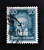 GERMANY - CIRCA 1927: A stamp printed in German Empire show Ludwig van Beethoven, circa 1927 — Zdjęcie stockowe