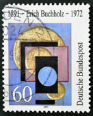 Německo - cca 1991: známka vytištěna v německu, věnované erich buchholz malíř a architekt, cca 1991. — Stock fotografie