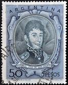 ARGENTINA - CIRCA 1954: A stamp printed in Argentina shows General Jose De San Martin, circa 1954 — Stock Photo