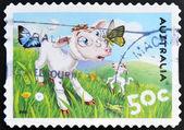 Australien - circa 2005: stämpel tryckt i Australien visar lamm och insekter, ca 2005 — Stockfoto