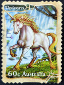 AUSTRALIA - CIRCA 2011: A stamp printed in australia shows unicorn,circa 2011 — Stock Photo