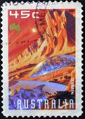 AUSTRALIA - CIRCA 2000: A stamp printed in Australia shows Terrain, circa 2000 — Stock Photo